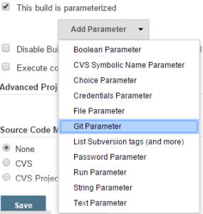 git parameter